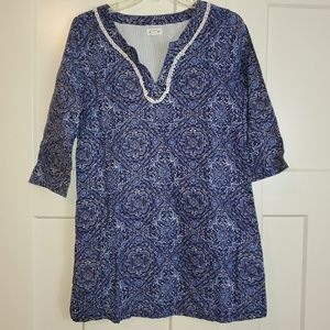 Womens Lucky Brand Paisley Design Tunic Size Small